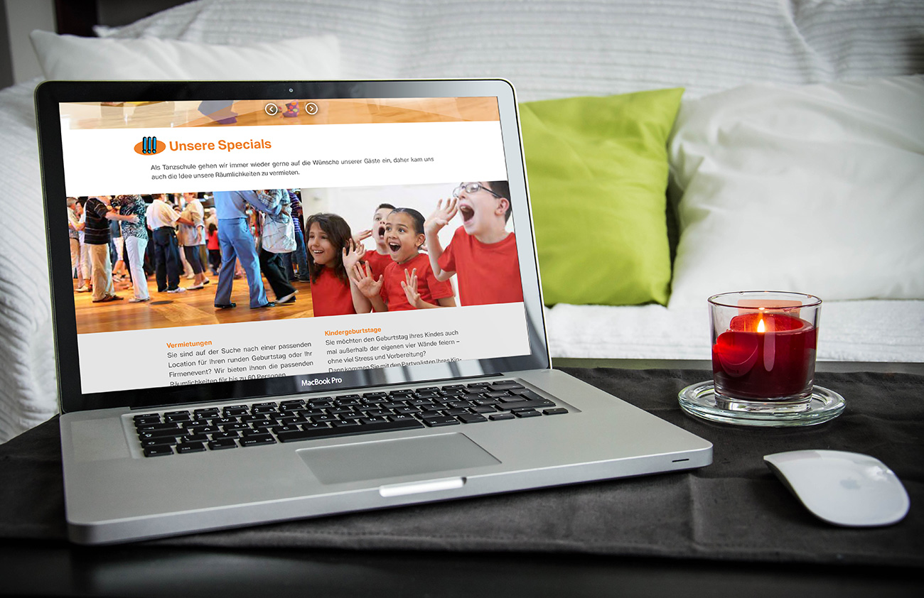 Website Advanced Tanzschule Ok Monitoransicht