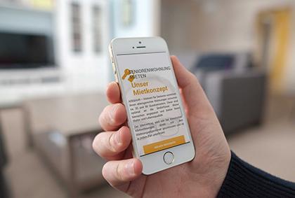 Referenzansicht Adebahr Smartphone