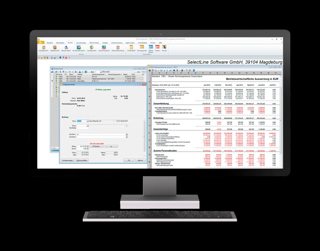 Screenshot Selectline Rechnungswesen